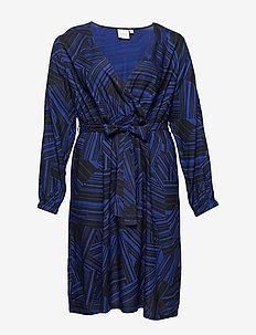 JRKIDA LS BELOW KNEE DRESS - K - omlottklänning - black
