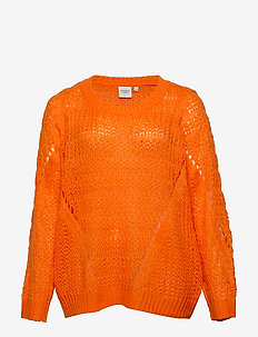 JRNALIKA LS KNIT PULLOVER - S - VIBRANT ORANGE