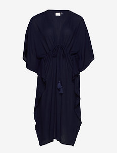 JRFAYA 2/4 SL MIDI KAFTAN DRESS - K - NAVY BLAZER