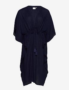 JRFAYA 2/4 SL MIDI KAFTAN DRESS - K - vêtements de plage - navy blazer