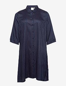 JRNINA 3/4 SLEEVE ABK DRESS GA -K - paitamekot - navy blazer