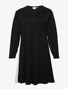 JRCHARLOTTE LS ABOVE KNEE DRESS - S - BLACK