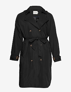 JRKATUK LS LONG TRENCH COAT - S - trencze - black