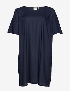 JRMAIKA 2/4 SLEEVE ABK DRESS - K MH - NAVY BLAZER