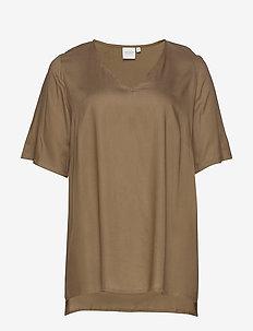 JRMAIKA 2/4 SLEEVE BLOUSE - K MH - t-shirts - covert green