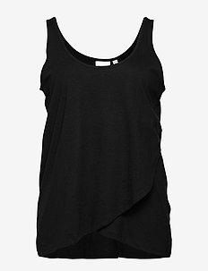 JRALVIA SL TANK TOP - S MH - basic t-shirts - black