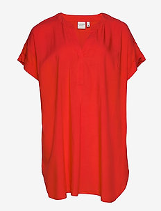 JRLULA SS TUNIC - K - tuniki - fiery red