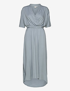 JRSINKA SS MIDI DRESS - K - wrap dresses - blue fog