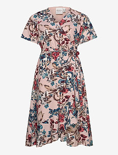 JRELISABETH SS MIDI DRESS - K - wrap dresses - ash rose