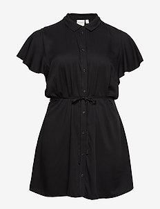 JRSILLE CAP SLEEVE TUNIC - K - BLACK