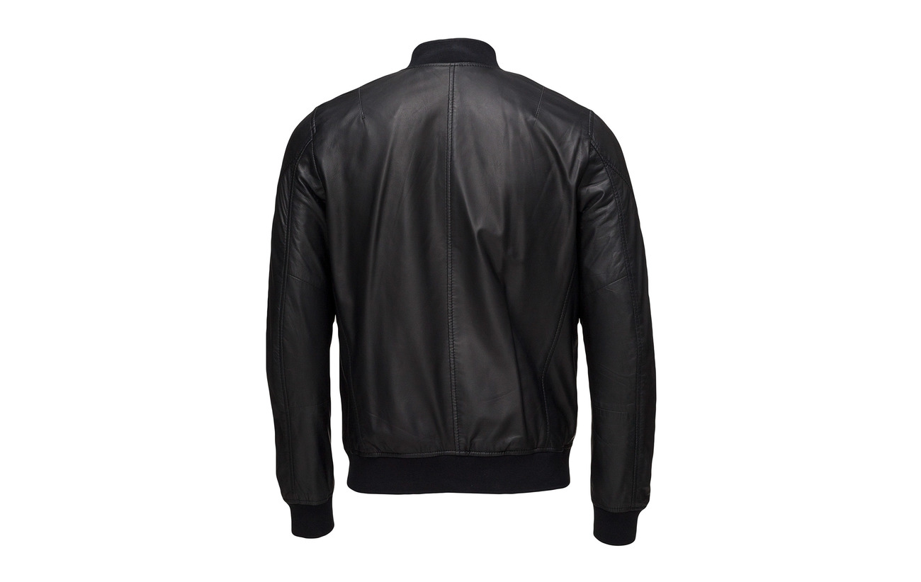 Bomber Junk De Luxe Jacket Black Leather tqPOwqz