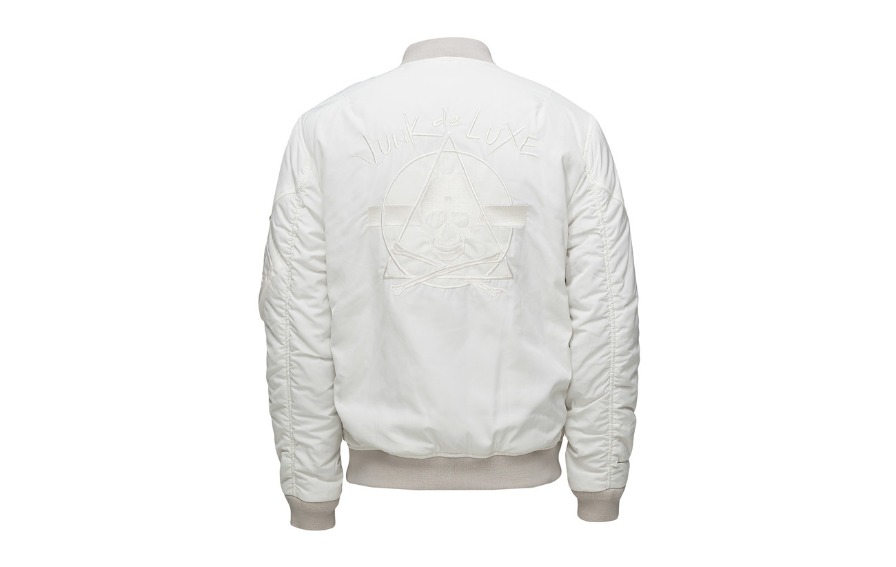 Luxe Jacket Off Embroidered Bomber White Junk De 8xqZHwB5S