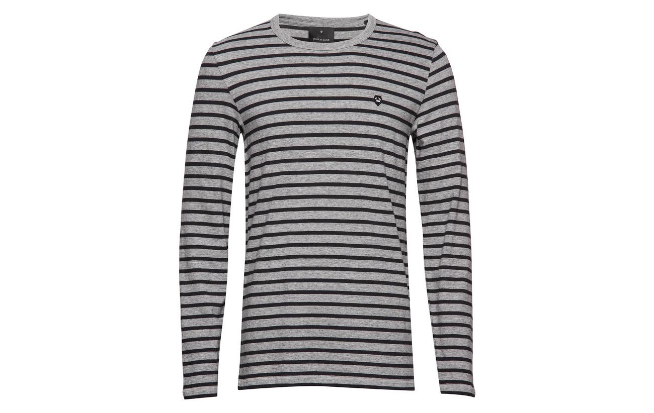 Grey Luxe Tee L Junk Stripe De s Mel ZwaY6