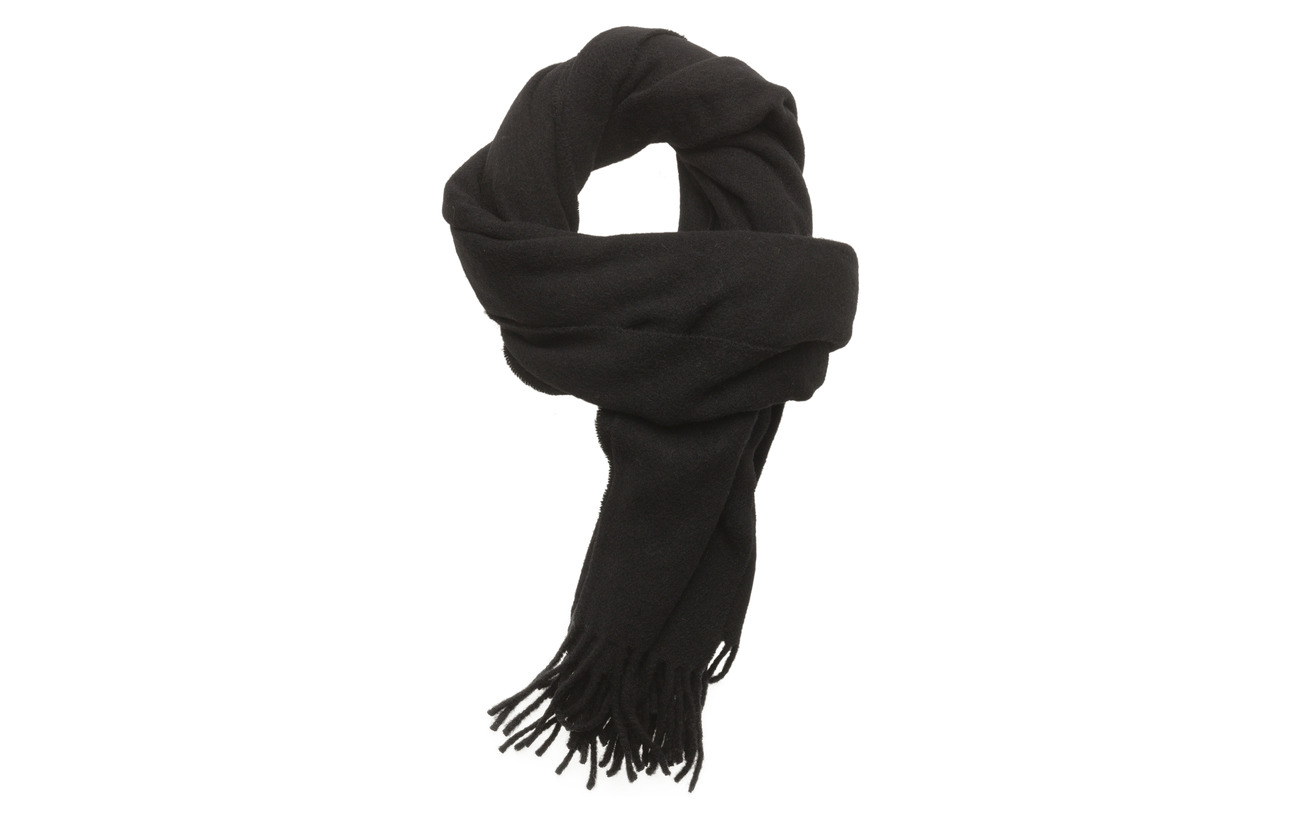 JUNK de LUXE Boiled wool scarf - BLACK
