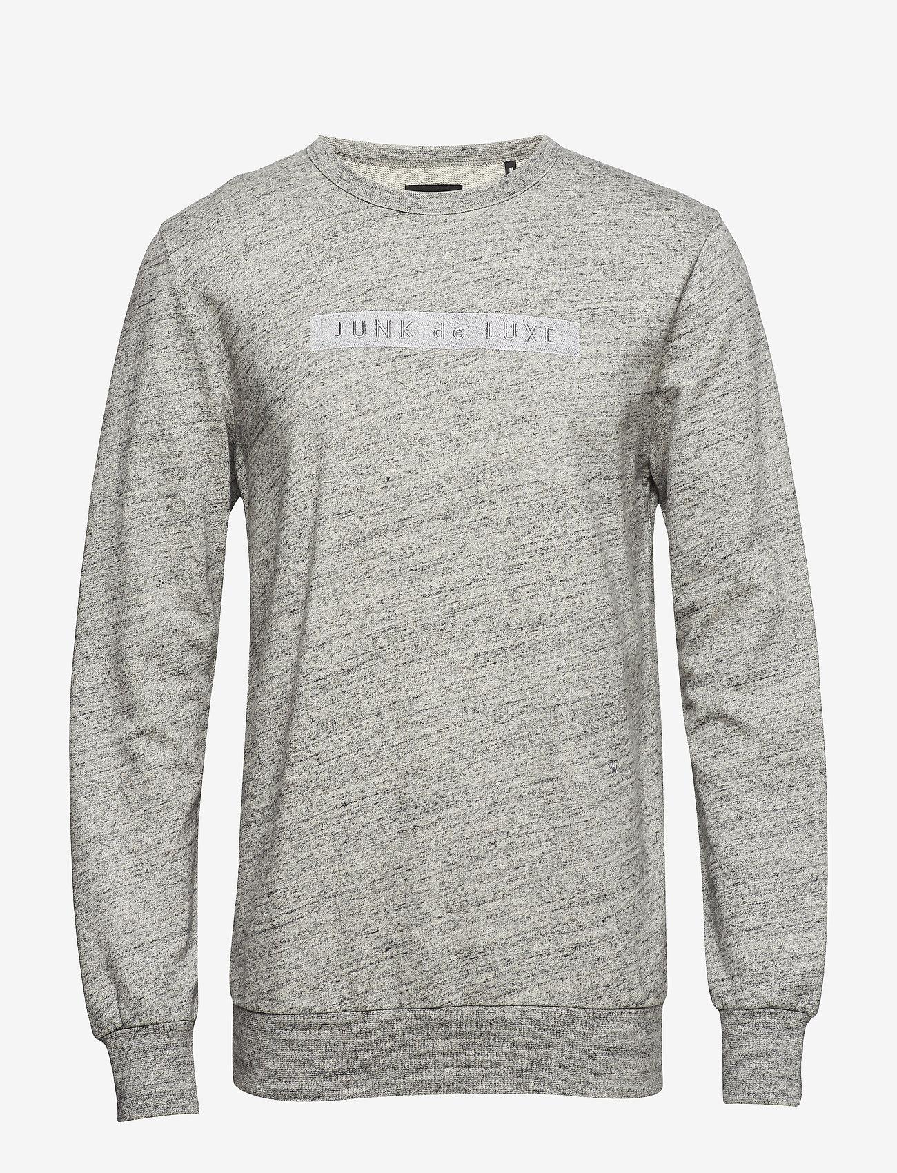 JUNK de LUXE - Herringbone double cloth sweat - sweats - grey mel