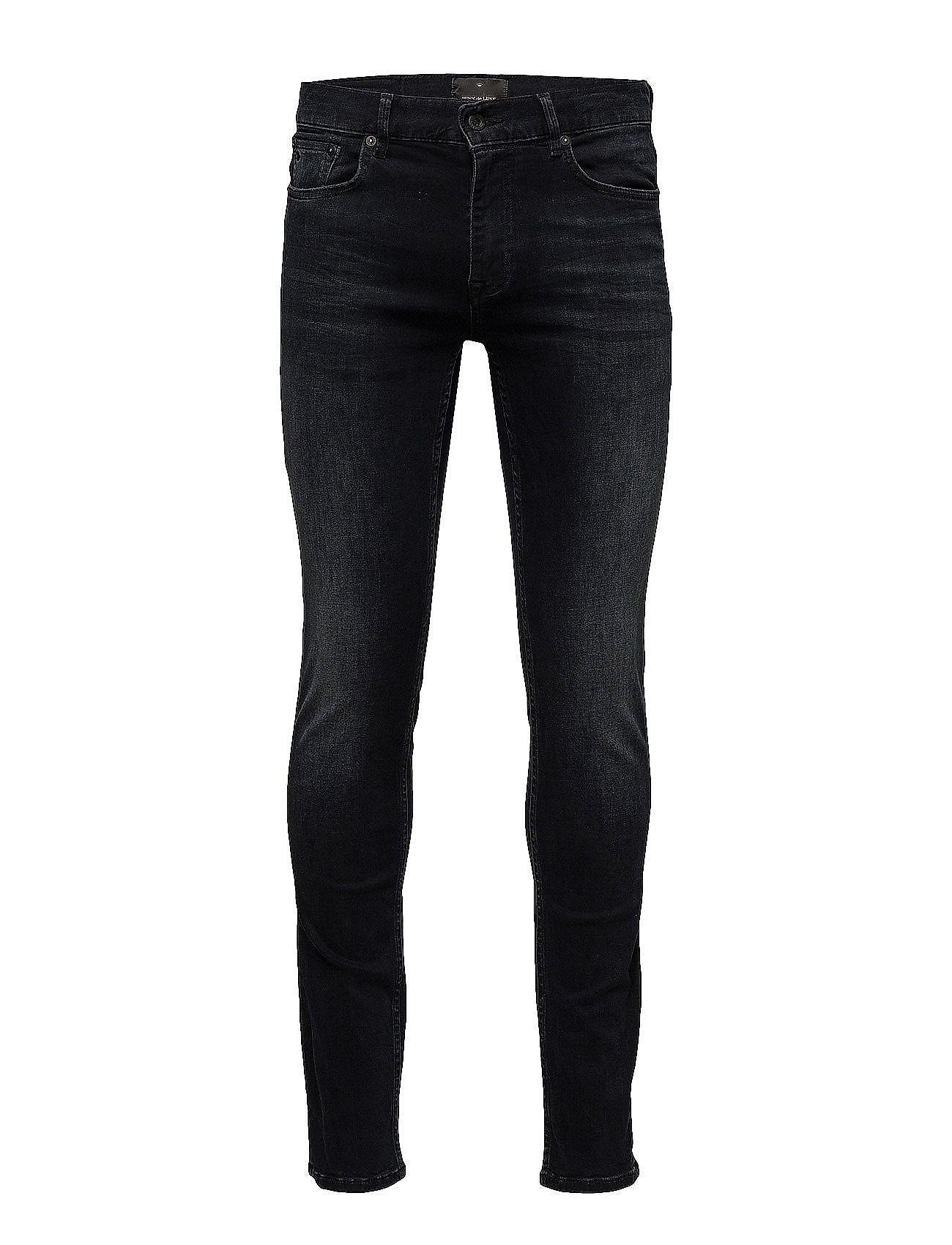 JUNK de LUXE Shadow indigo skinny jeans - SHADOW WASH