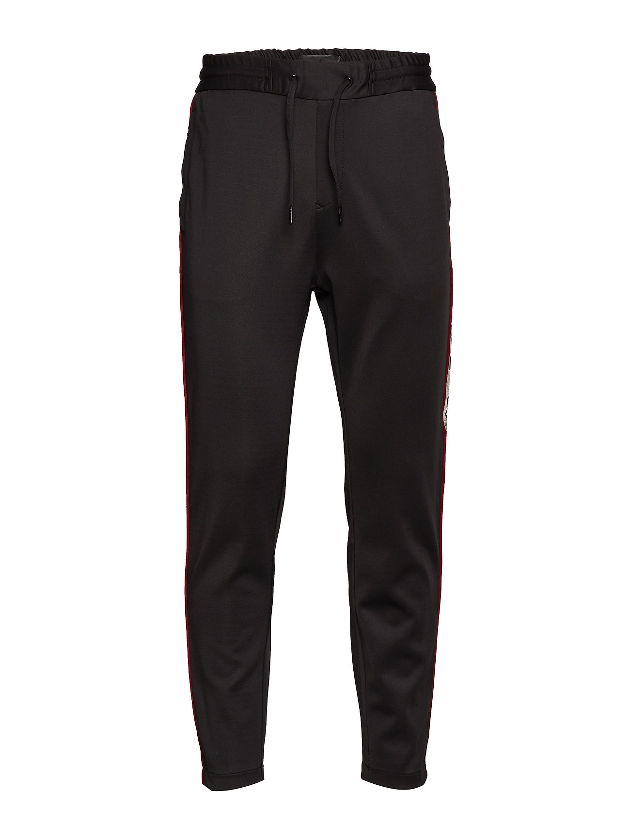 JUNK de LUXE Logo tape track pants - BLACK