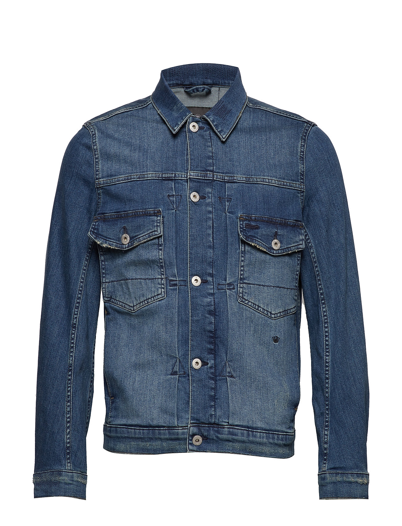 JUNK de LUXE Washed denim jacket - WASH INDIGO