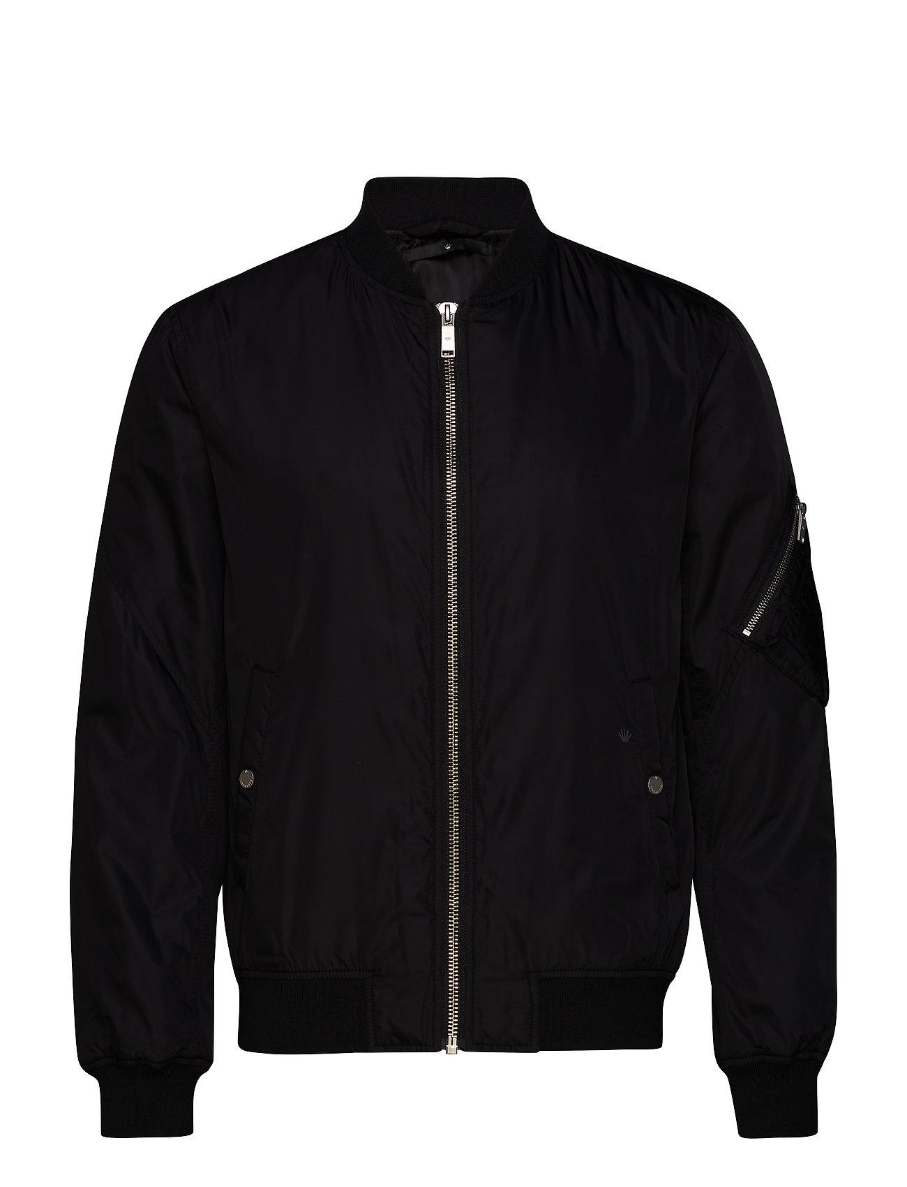 JUNK de LUXE Padded bomber jacket - BLACK