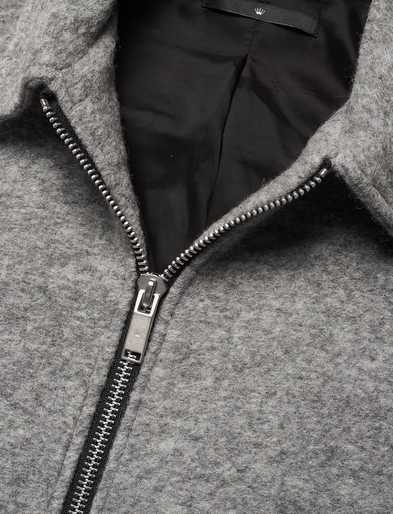 JUNK de LUXE Boiled wool zip through jacket Strickmode LT