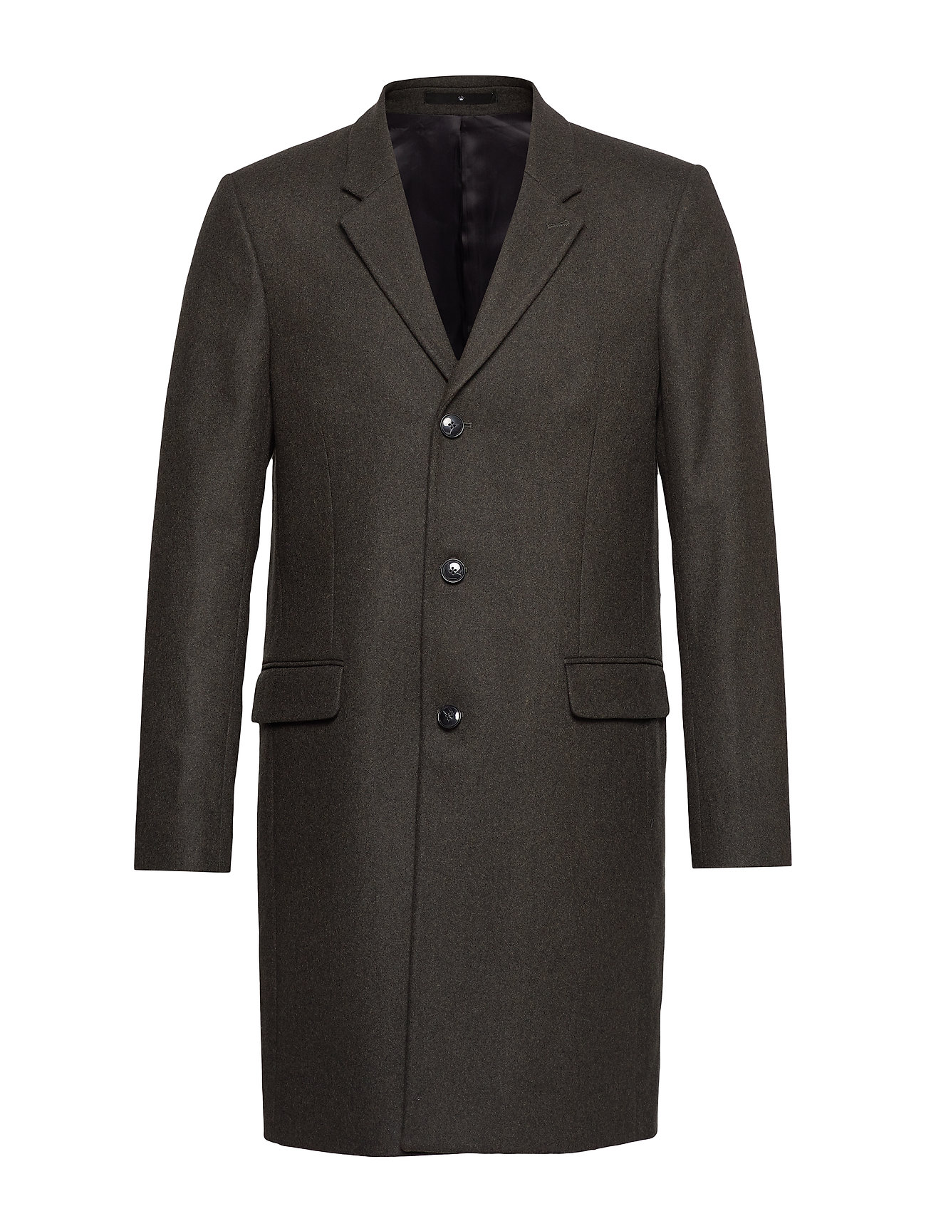 JUNK de LUXE Tailored wool coat - DK GREEN MEL