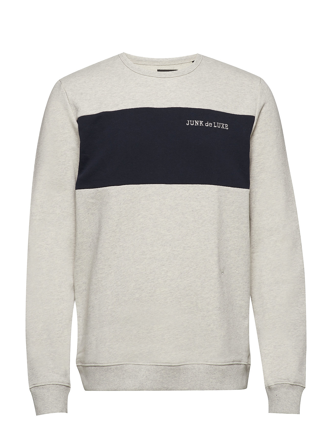 JUNK de LUXE Contrast panel sweat - LT GREY MEL