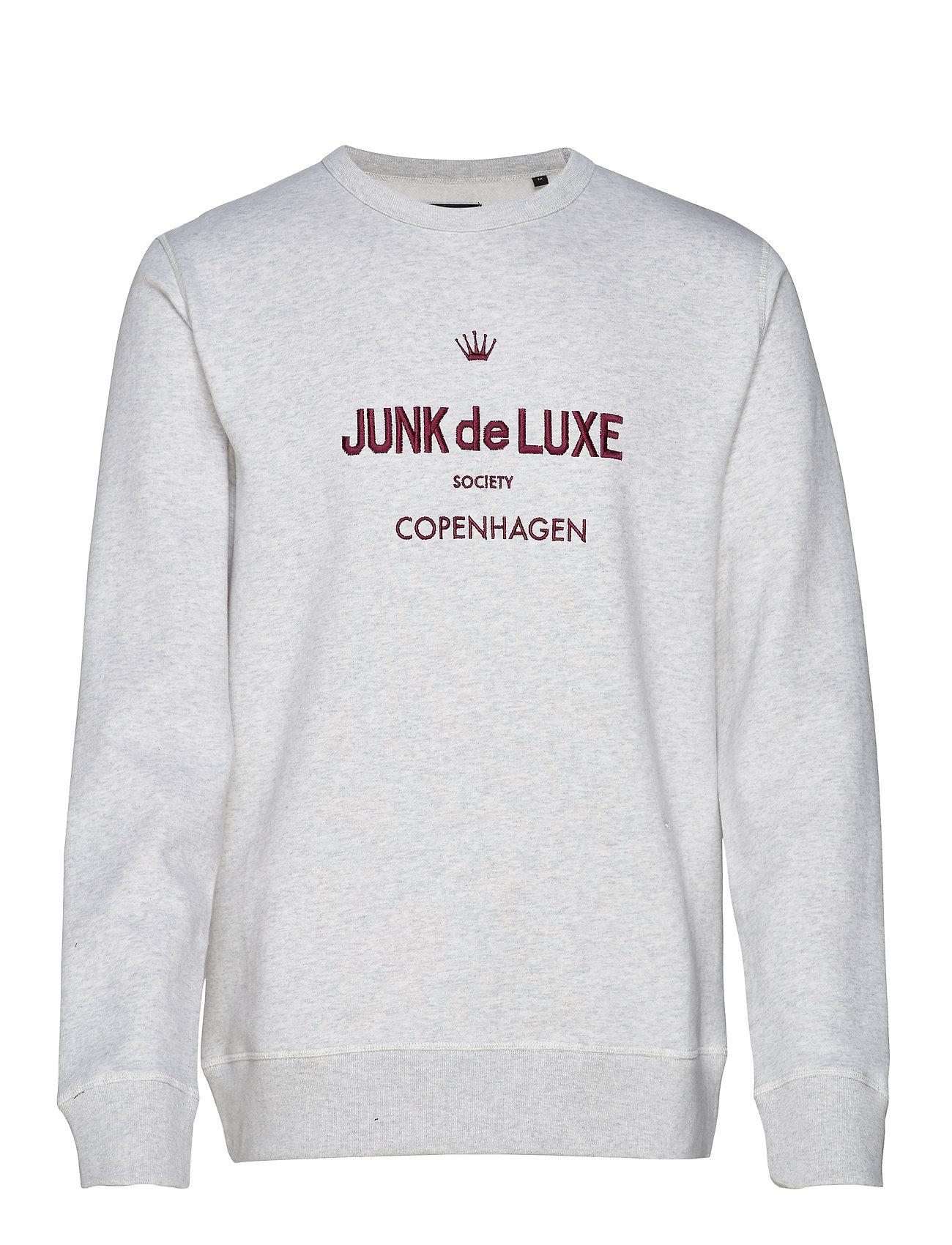 JUNK de LUXE Logo sweat - LT GREY MEL
