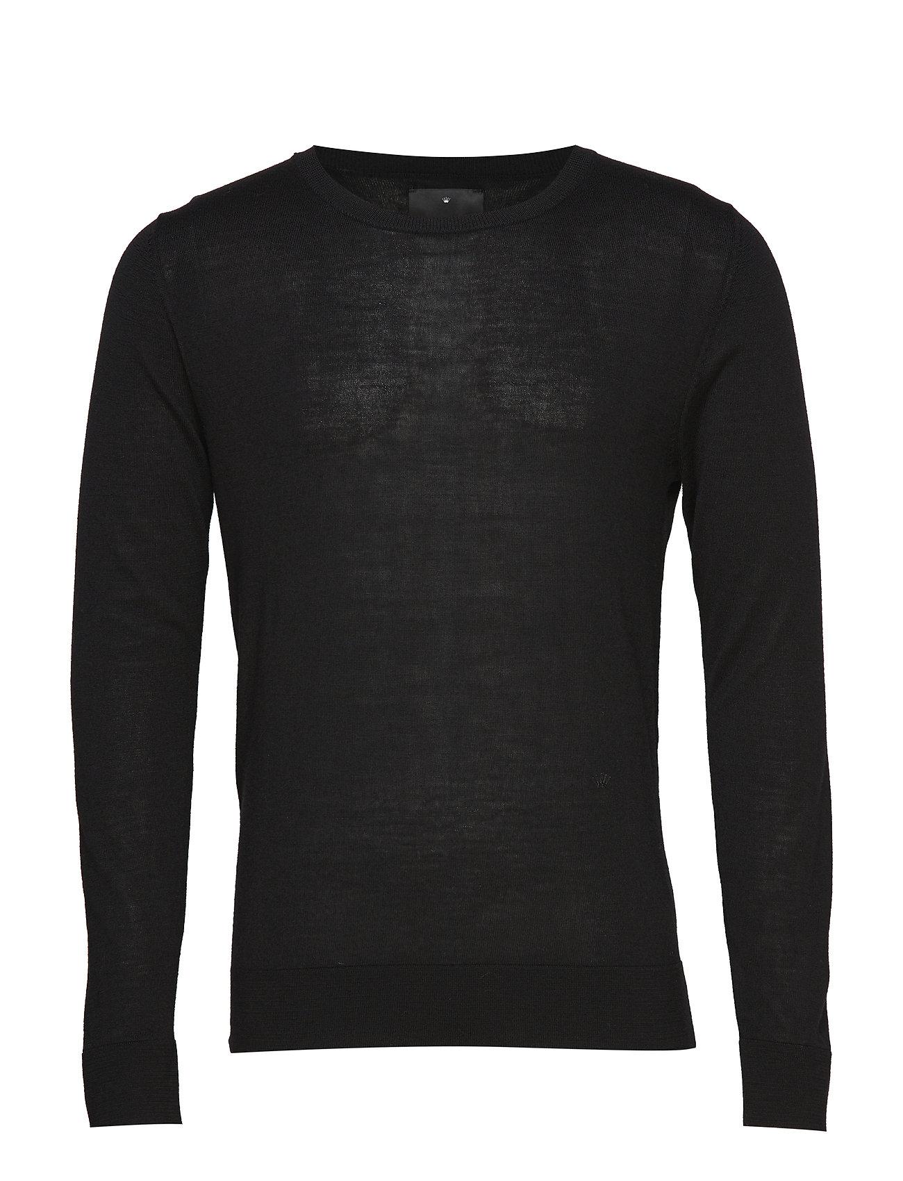 JUNK de LUXE Fine merino wool knit jumper - BLACK