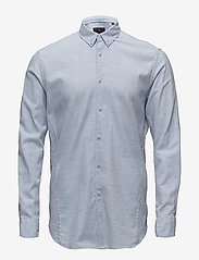 JUNK de LUXE - Cotton twill mélange L/S shirt - chemises basiques - lt blue mel - 0