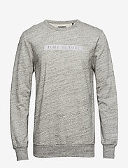 JUNK de LUXE - Herringbone double cloth sweat - sweats - grey mel - 0