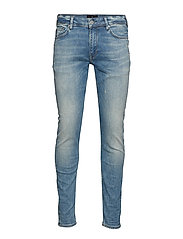Heavy indigo wash skinny jeans - HEAVY WASH