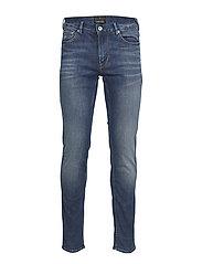 Heavy twill skinny jeans - MID WASH
