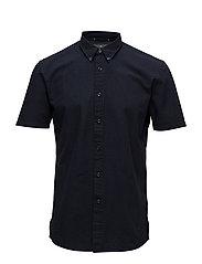 Seersucker S/S shirt - DEEP NAVY