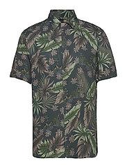 AOP S/S resort shirt - DK SAND