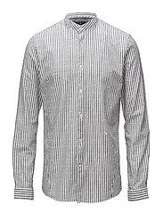 Stripe slub L/S shirt - INDIGO