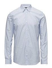 Striped cotton dress shirt - BLUE