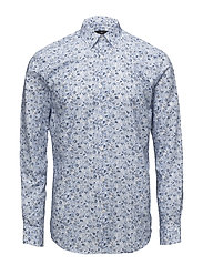 AOP cotton dress shirt - BLUE