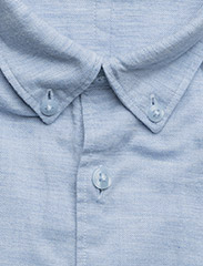 JUNK de LUXE - Cotton twill mélange L/S shirt - chemises basiques - lt blue mel - 2