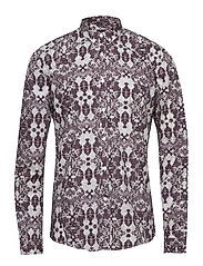 Allover printed L/S shirt - PURPLE