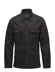 Military L/S outershirt - DUSTY BLACK