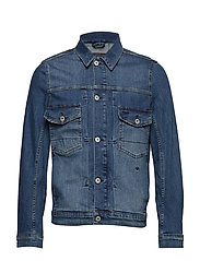 Washed denim jacket - WASH INDIGO