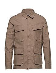 Ripstop motorcycle jacket - DARK SAND
