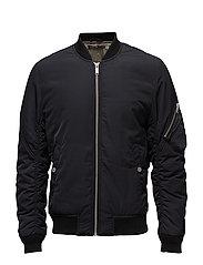 Padded bomber jacket - BLACK