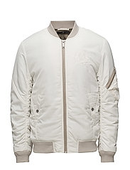 Embroidered bomber jacket - OFF WHITE
