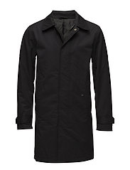 Padded Mac coat - BLACK