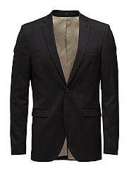 Wool suiting blazer - BLACK