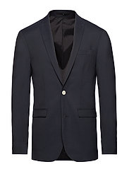 Stretch heavy twill blazer - NAVY