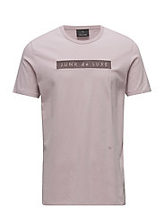 Embroidery logo tee - DUSTY PINK