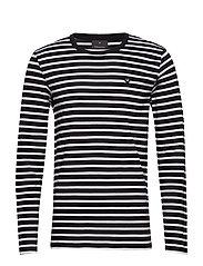 Stripe tee L/S - BLACK