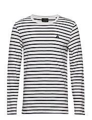 Stripe tee L/S - OFF WHITE